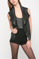 Silence & Noise Faux Leather Maxine Vest