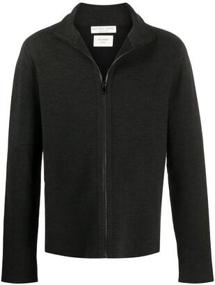 Bottega Veneta Zip-Front Long-Sleeve Jumper