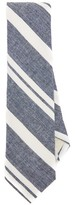 The Hill-Side Linen Blend Crepe Stripe Tie