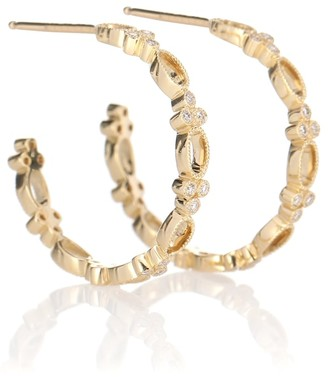 Stone Paris Volupte Small Hoop 18kt yellow gold and diamond earrings