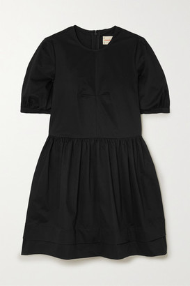 &Daughter Esther Stretch Organic Cotton-twill Mini Dress - Black