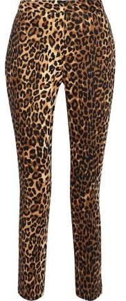 Walter W118 By Baker Cropped Metallic Cotton-blend Slim-leg Pants