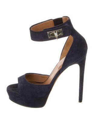 Givenchy Suede Sandals Blue