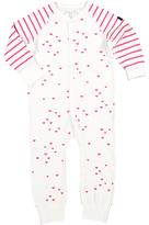 Polarn O. Pyret Children's Heart Print Onesie Pyjamas, Pink