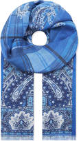 Etro Paisley modal and cashmere scarf