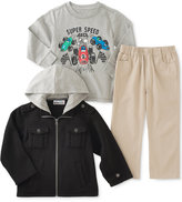 Kids Headquarters Kid Headquarters Little Boys' 3-Pc. Jacket, T-Shirt & Pants Set