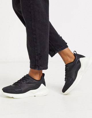 ASOS DESIGN Delhi knitted trainers in black