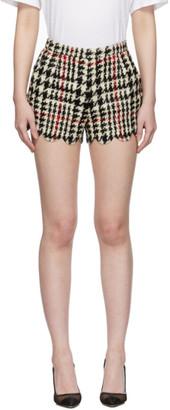 RED Valentino Black Houndstooth Shorts