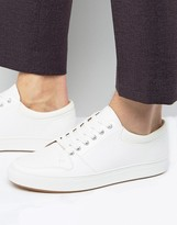 Ben Sherman Common Sneakers In White Leather