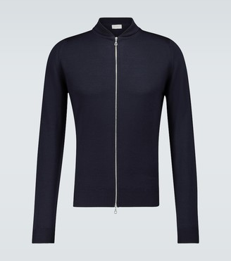 John Smedley Maclean knitted zip-up sweater