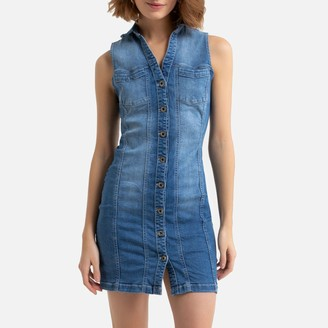 Freeman T. Porter Olyvia S-SDM Sleeveless Mini Dress in Denim
