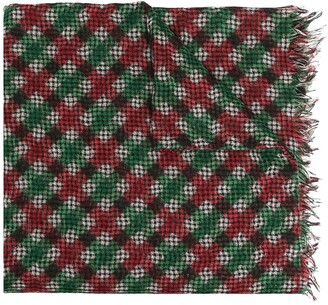Destin Ginga checked knitted scarf