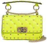 Valentino Garavani Mini Spike It Rockstud Neon Leather Shoulder Bag
