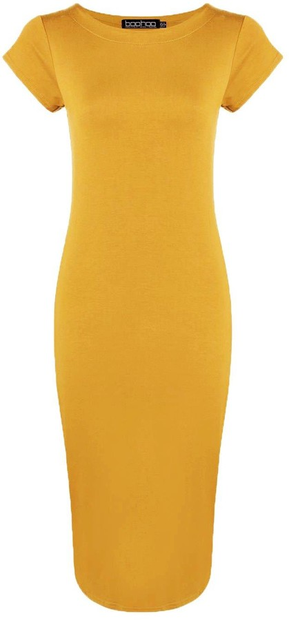 Thumbnail for your product : boohoo Cap Sleeve Jersey Bodycon Midi Dress