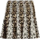 Roberto Cavalli Pleated Jacquard Mini Skirt