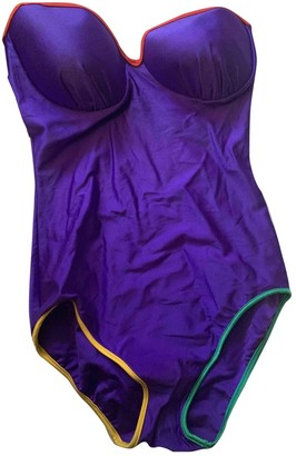 Christian Dior Purple Polyester Swimwear