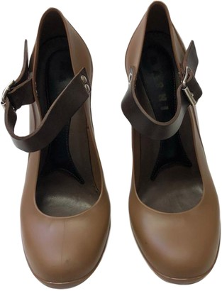 Marni Brown Rubber Heels