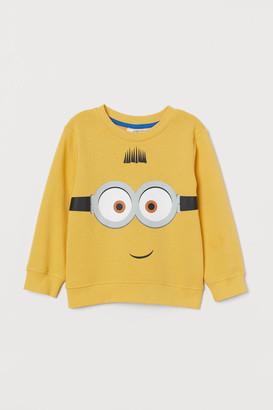 H&M Printed Sweatshirt - Yellow