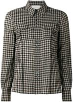 Gucci floral embroidered check shirt - women - Polyamide/Polyester/Lyocell/Wool - 44