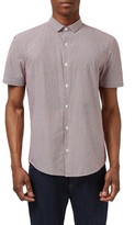 Topman Slim Fit Short Sleeve Geo Print Shirt