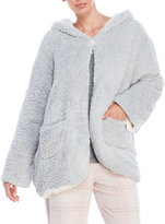 Jessica Simpson Reversible Fleece Hooded House Jacket