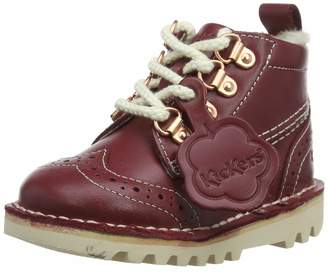 Kickers Baby Girls' Kick Fur Hiker Boots Red (Red Red) 5 (22 EU)