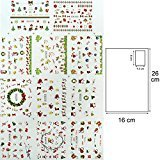Gelle Christmas Holiday Water Nail Decals Sticker Various Cute Patterns Tips Nail Art Manicure 1 Sheet #03
