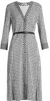 Altuzarra Leppard hound's-tooth checked dress