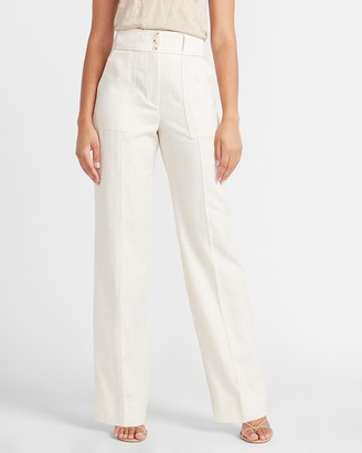 Express Super High Waisted Button Fly Trouser Pant
