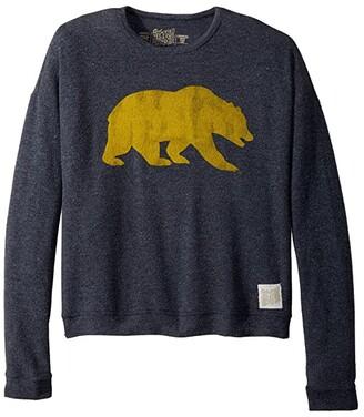 Original Retro Brand The Kids Cal Bear Haaci Pullover Sweatshirt (Big Kids) (Navy) Girl's Sweatshirt