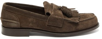 Church's Oreham Suede Tassel Loafers - Mens - Dark Brown