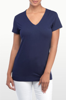 NYDJ Road 22 Short Sleeve V Neck Tee