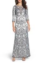Tadashi Shoji Women's Embroidered Mesh Gown