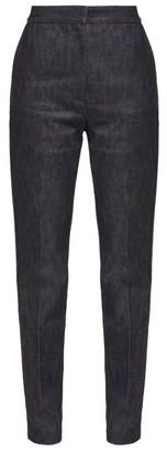 Burberry High-rise Applique Leather-monogram Jeans - Denim