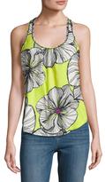 Trina Turk Latrice Silk Floral Printed Sleeveless Top