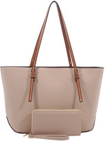 Gardenia Mkf Collection By Mia K. MKF Collection by Mia K. Women's Handbags Nude-Brown - Nude & Brown Tote & Wallet