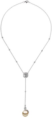 Yoko London 18kt white gold Starlight Golden South Sea pearl and diamond necklace