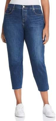 Levi's Plus Wedgie Skinny Ankle Jeans in Medium Blue