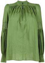 Plein Sud Jeans lace up pleated blouse
