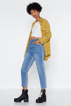 Nasty Gal Womens Two Sides to Every Story Mom Jeans - Blue - 6
