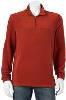 Croft & Barrow Big & Tall Classic-Fit Textured Arctic Fleece Quarter-Zip Jacket