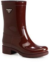 Prada Short Logo Rain Boots
