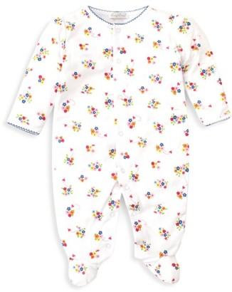 Kissy Kissy Baby Girl's Blue Blossoms Footed Romper