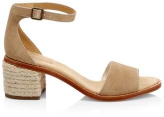 Soludos Capri Suede Block Heel Espadrille Sandals