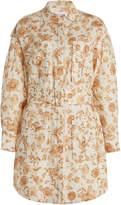 Significant Other Aphrodite Floral-Print Linen-Blend Shirt Dress