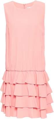 RED Valentino Ruffled Tiered Satin-crepe Mini Dress