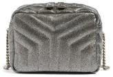 Saint Laurent Monogram Small Loulou Leather Bowling Bag - Metallic