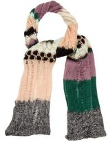 M Missoni Open Knit Striped Scarf