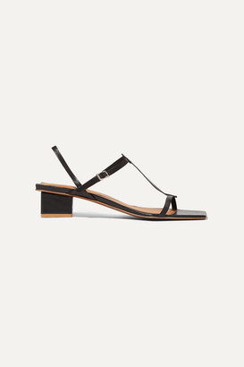 BY FAR Krista Leather Sandals - Black