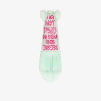 Viktor & Rolf I Am Not Paid To Wear tulle dress